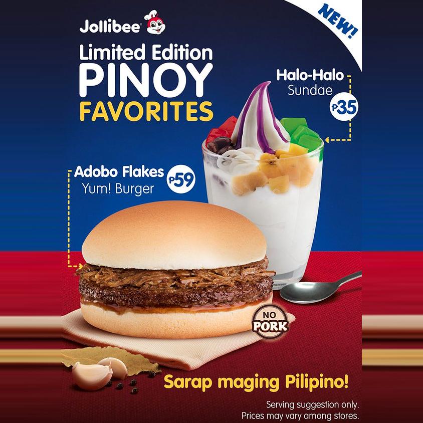 Adobo Flakes Yum Burger from Jollibee?!