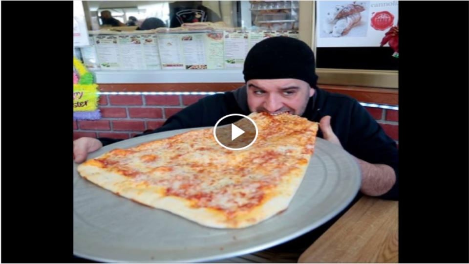 TWO FEET LONG PIZZA