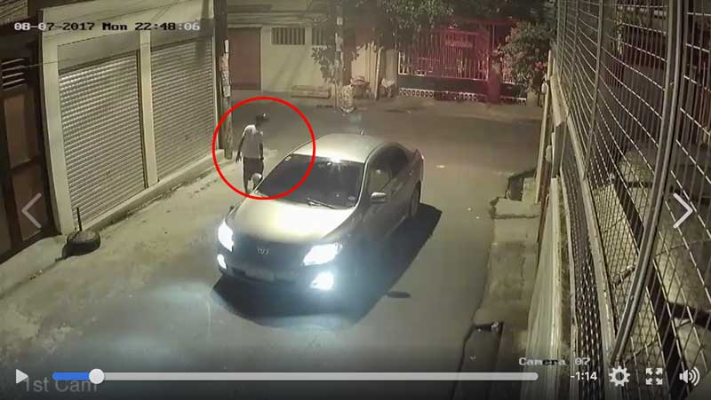 WATCH! CCTV Shows Robbers Drive Around Looking For Victims