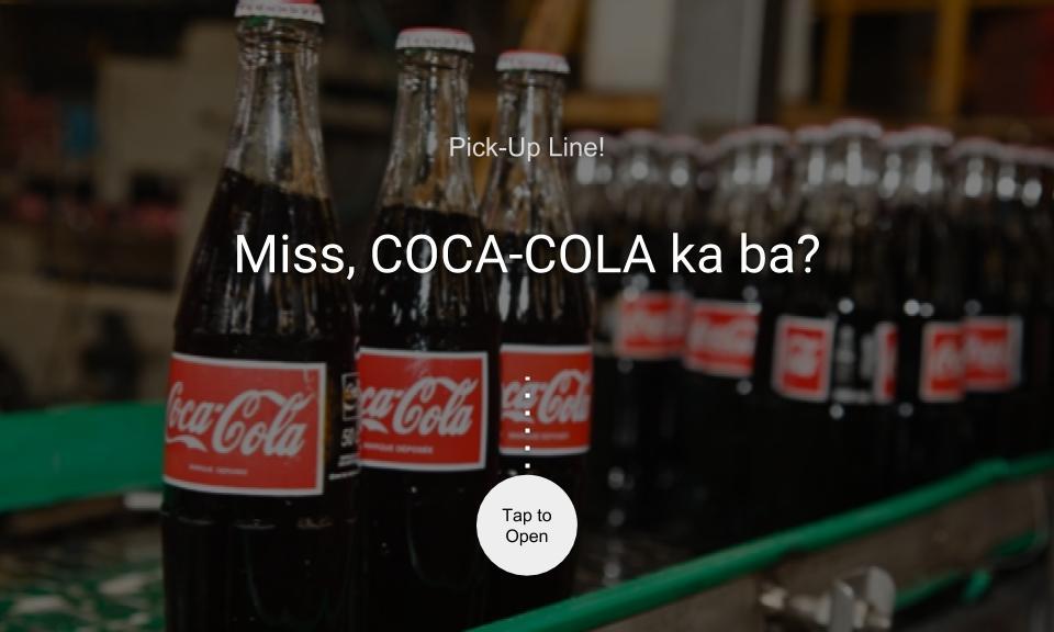 Miss, COCA-COLA ka ba?