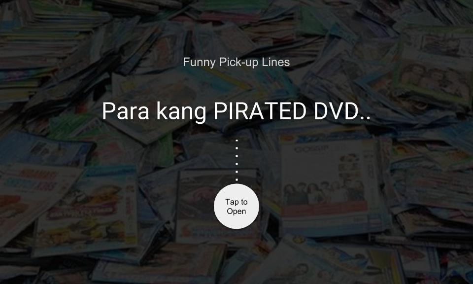 Para kang PIRATED DVD..