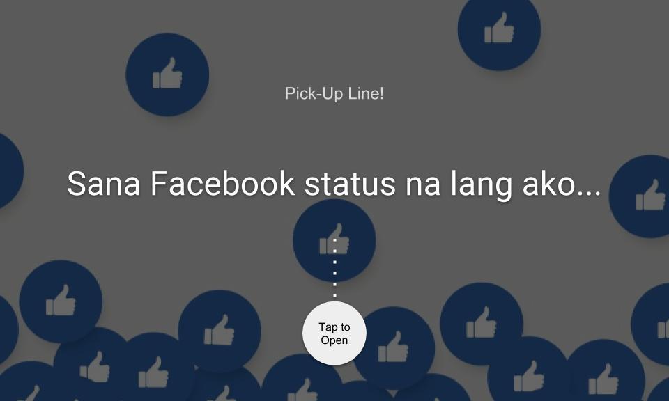 Sana Facebook status na lang ako…