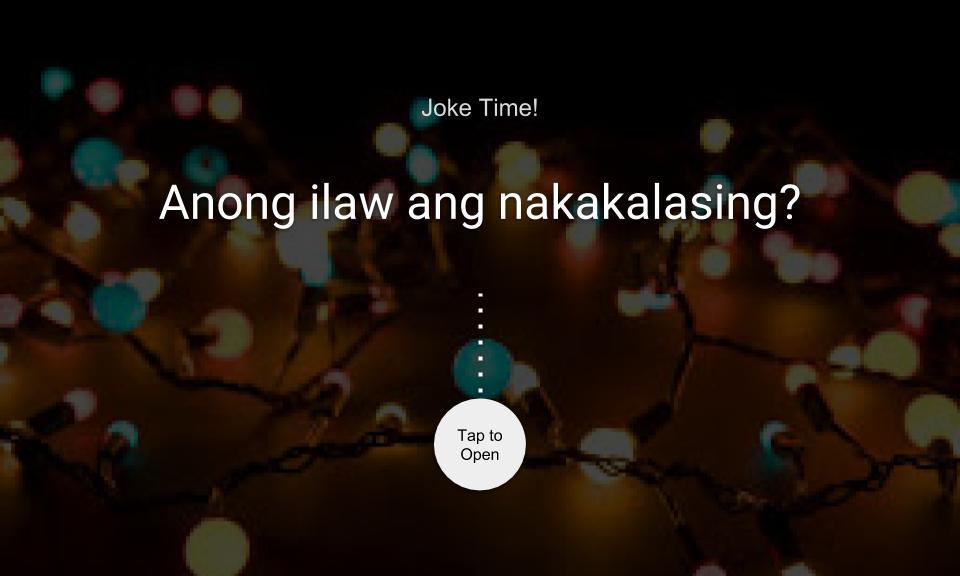 Anong ilaw ang nakakalasing?