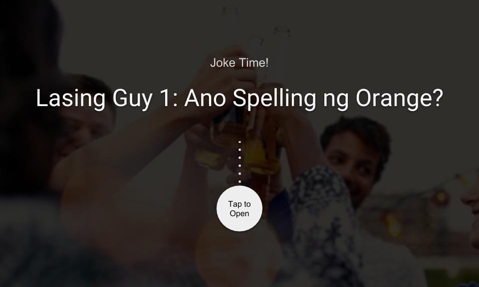 Lasing Guy 1: Ano daw spelling ng ORANGE?