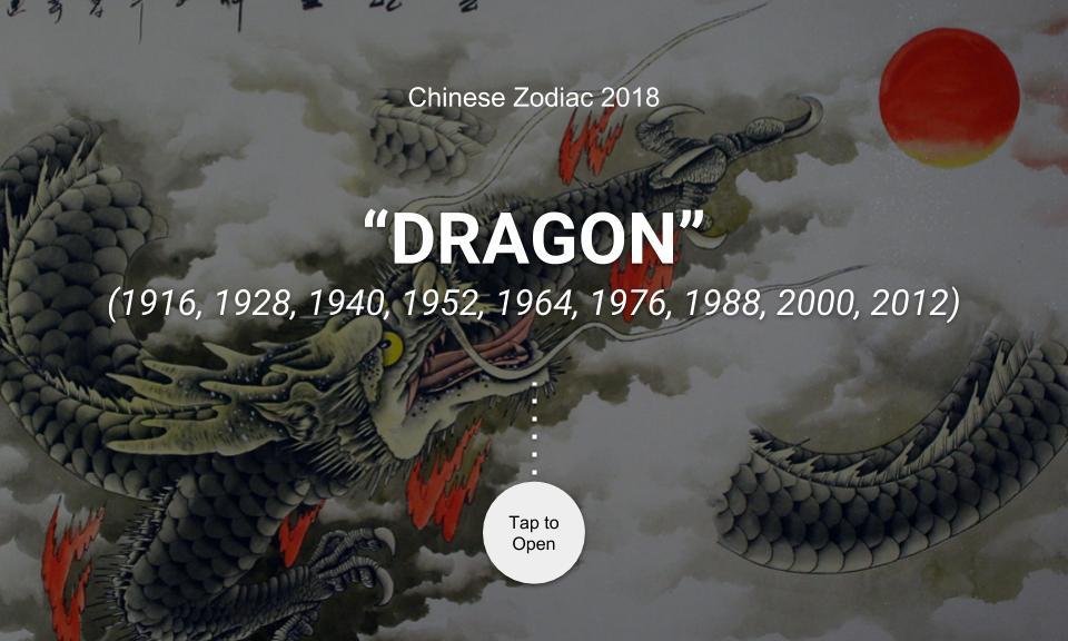 Chinese Zodiac 2018: DRAGON