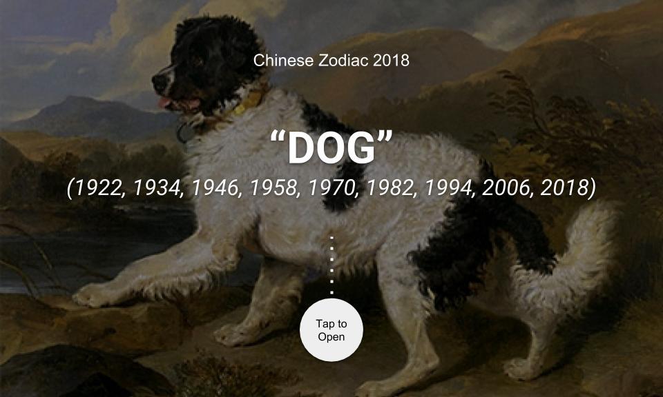 Chinese Zodiac 2018: DOG