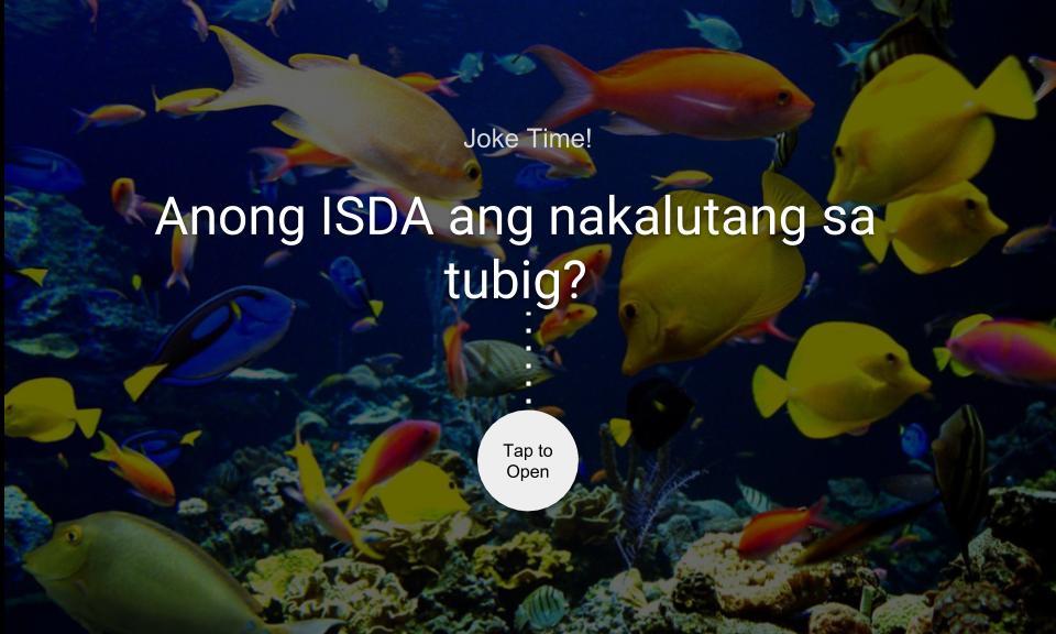 Anong ISDA ang nakalutang sa tubig?