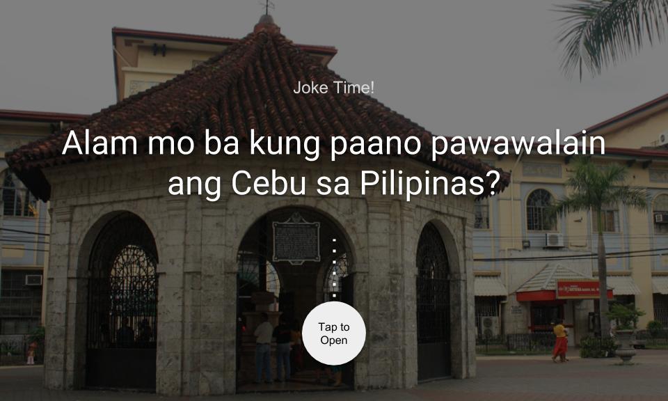 Alam mo ba kung paano pawawalain ang Cebu sa Pilipinas?