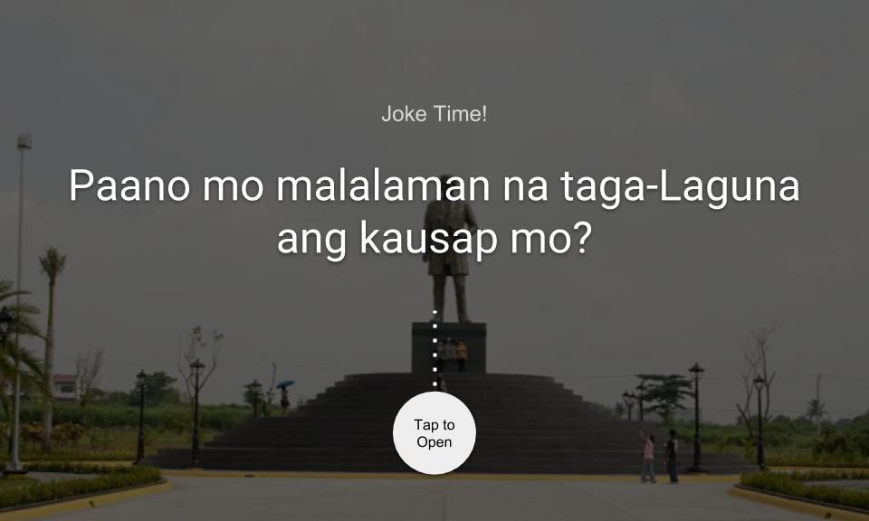 Paano mo malalaman na taga-Laguna ang kausap mo?