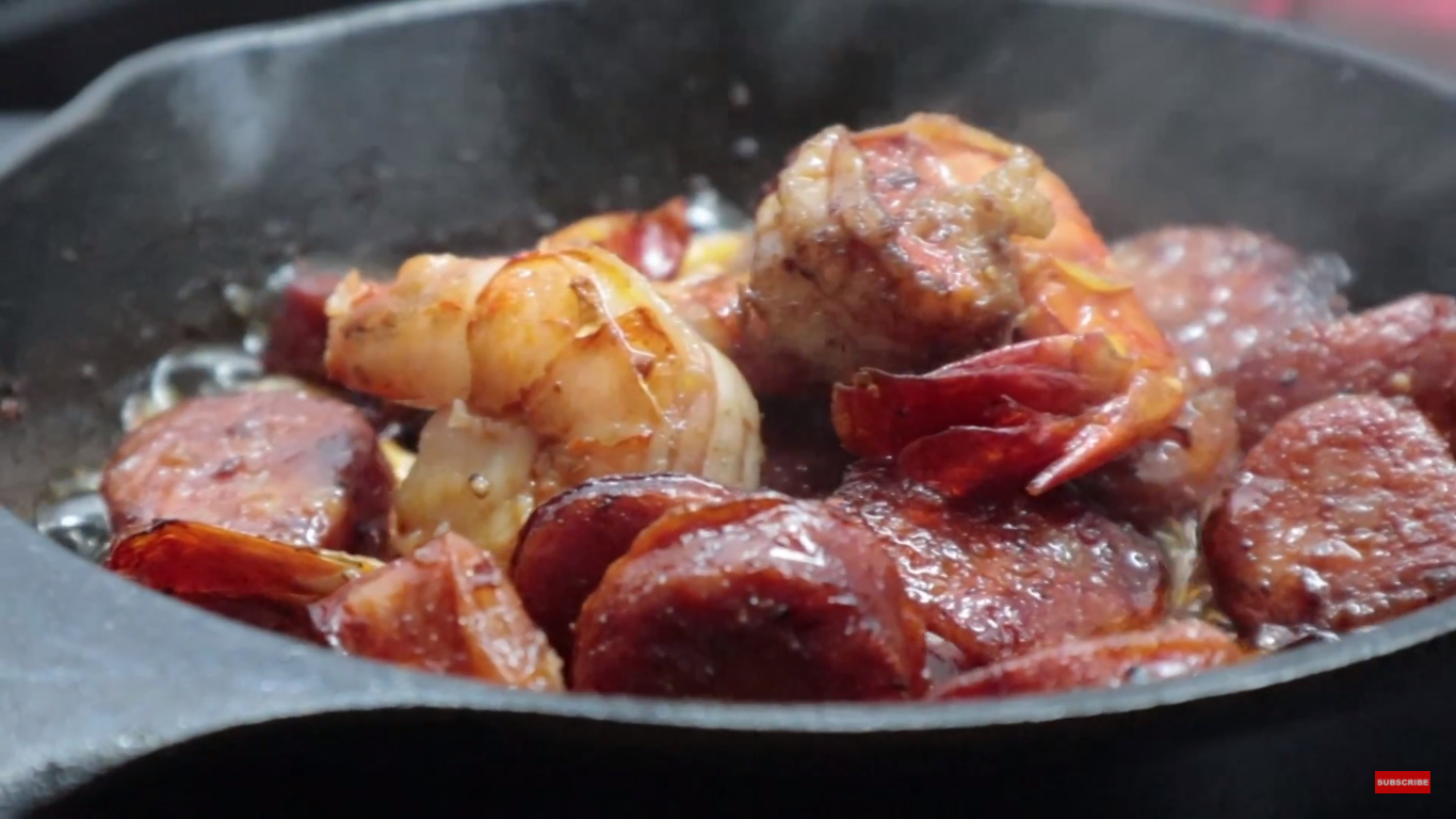 Our Recipe for Spicy Chorizos and Shrimps Pulutan