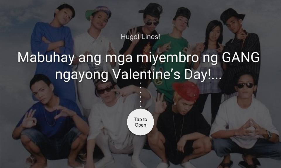 Mabuhay ang mga miyembro ng GANG ngayong Valentines Day!…