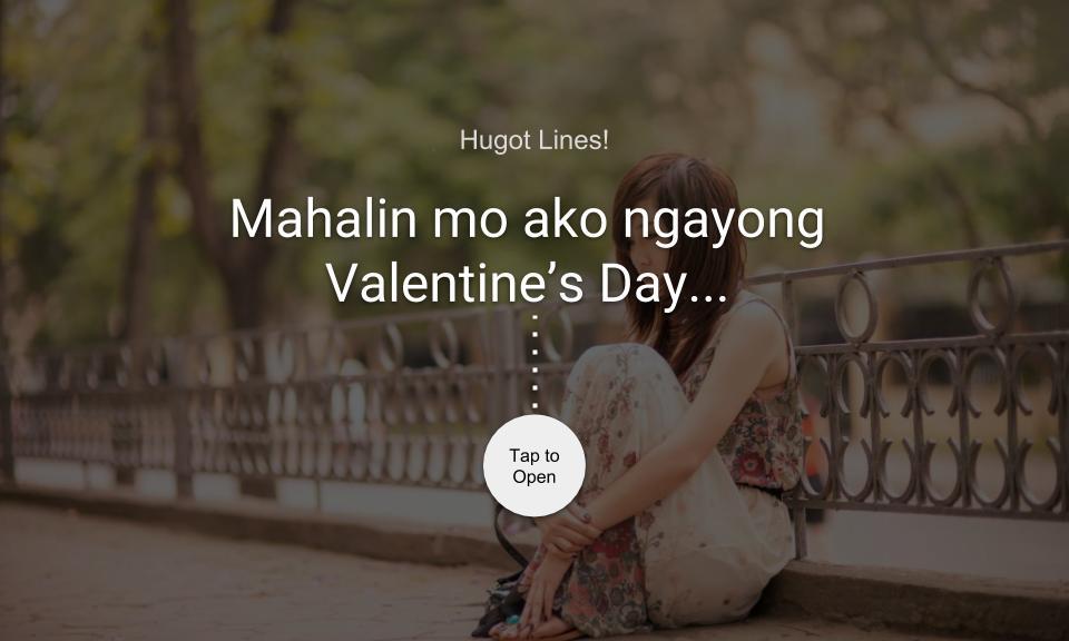 Mahalin mo ako ngayong Valentine's Day…