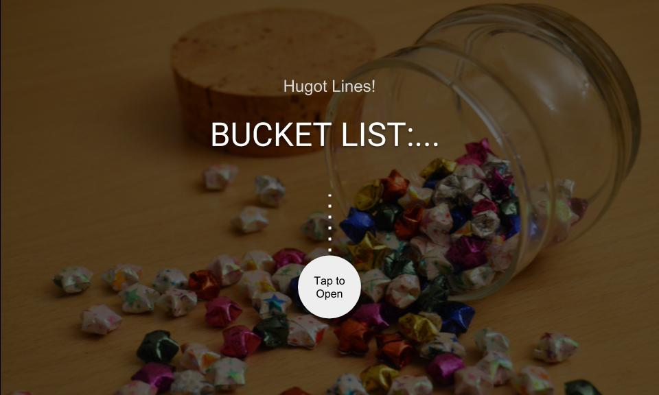 BUCKET LIST:…
