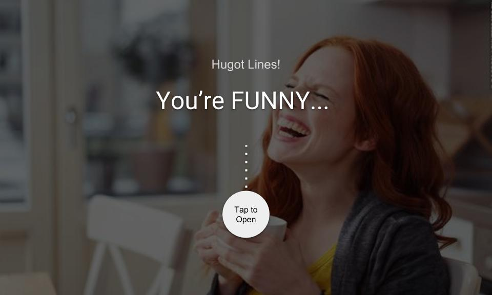 You're FUNNY…