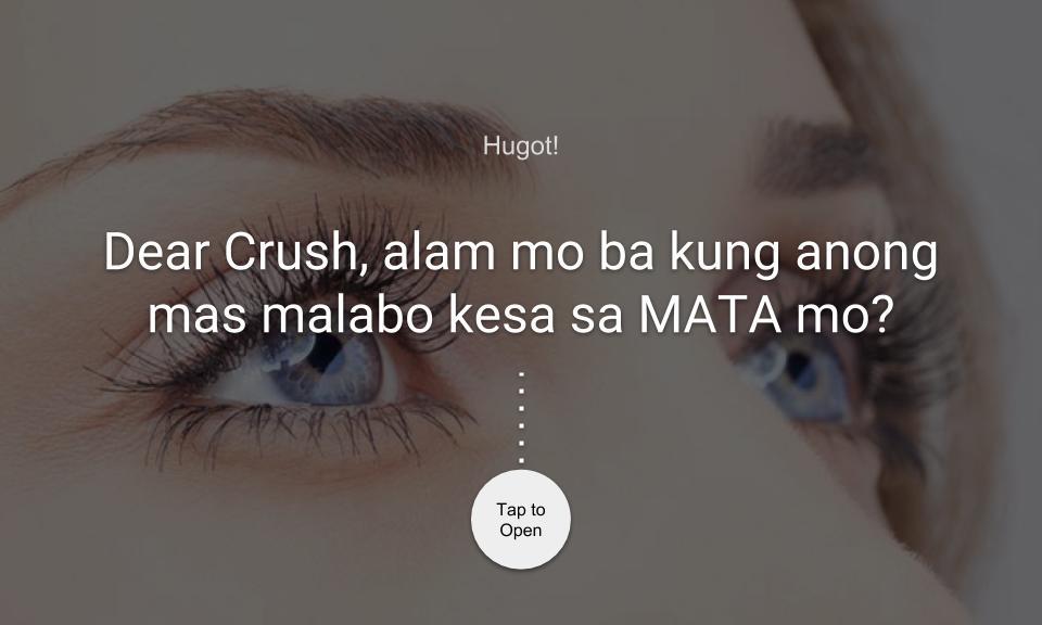 Dear Crush, alam mo ba kung anong mas malabo kesa sa MATA mo?