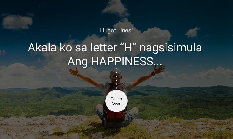 """Akala ko sa letter """"H"""" nagsisimula ang HAPPINESS…"""