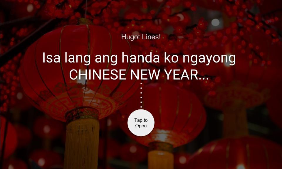 Isa lang ang handa ko ngayong CHINESE NEW YEAR…