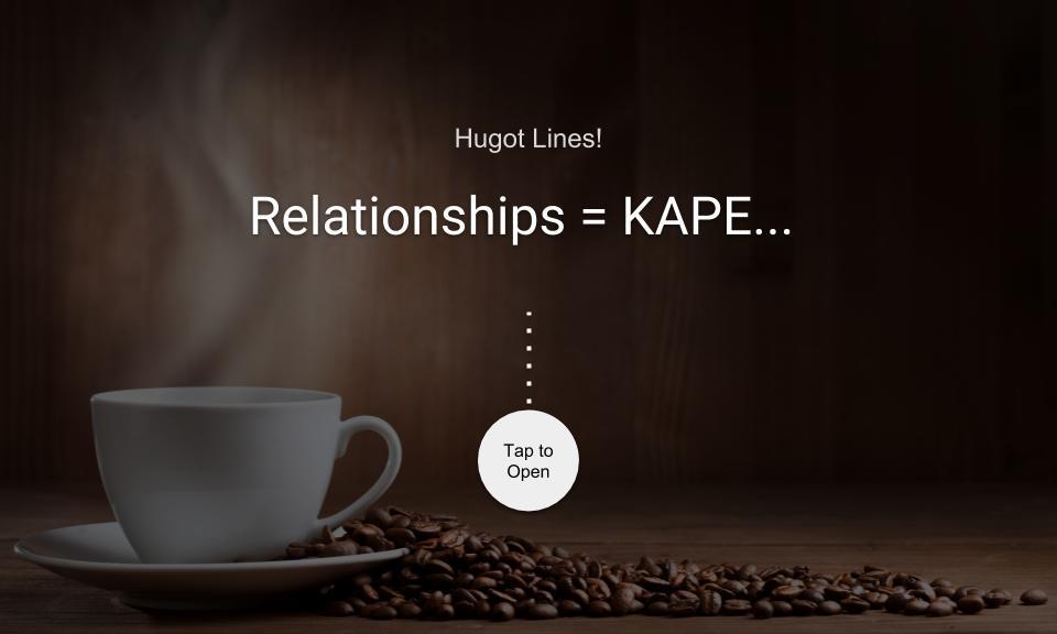 Relationships = KAPE…
