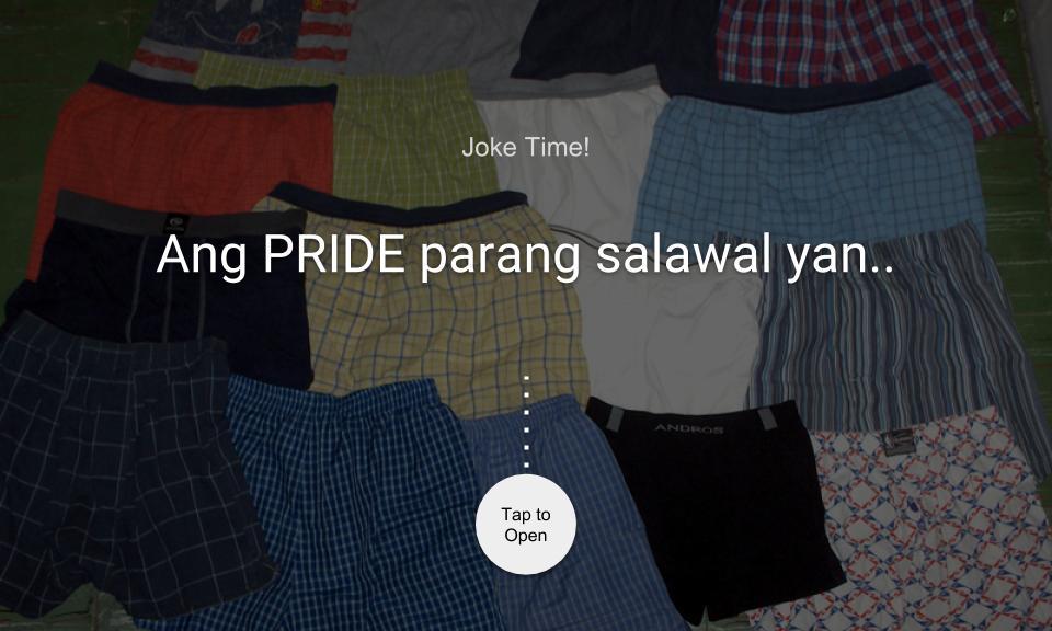 Ang PRIDE parang salawal yan..