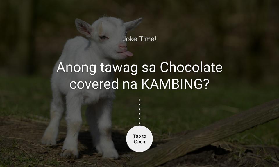 Anong tawag mo sa Chocolate covered na KAMBING?