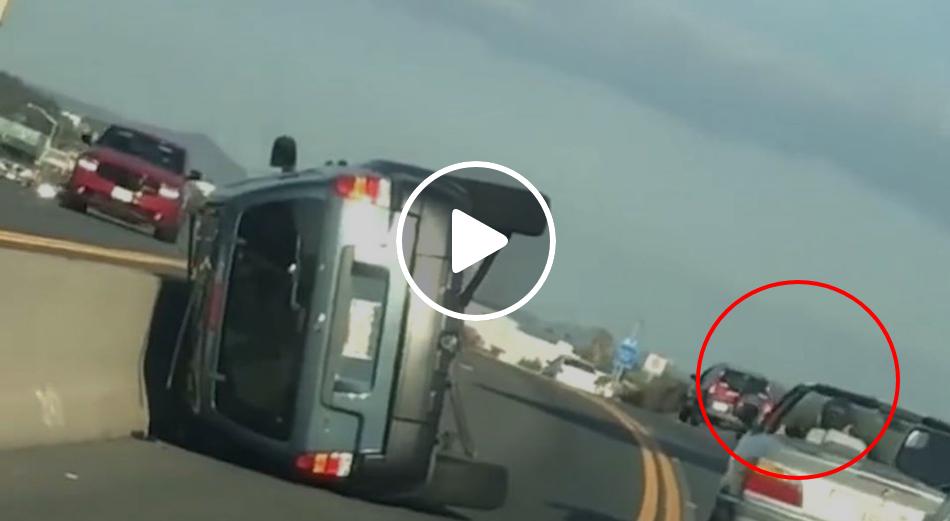 Karma Flips A Car