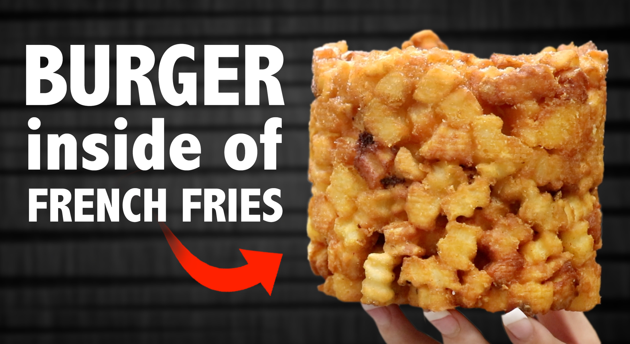 Cheeseburger inside French Fries!!!