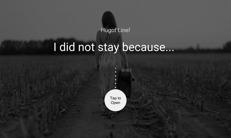 I did not stay because…