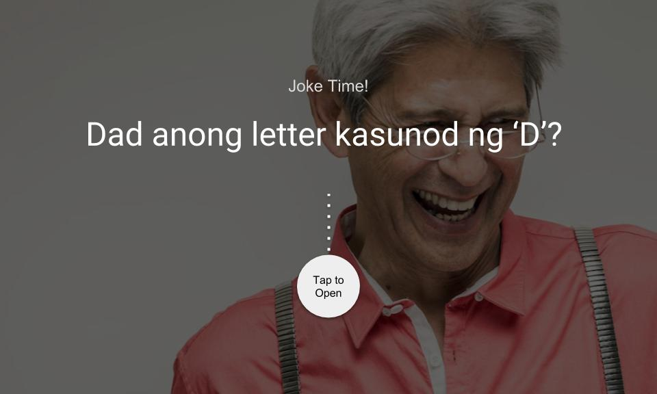 Dad anong letter kasunod ng 'D'?