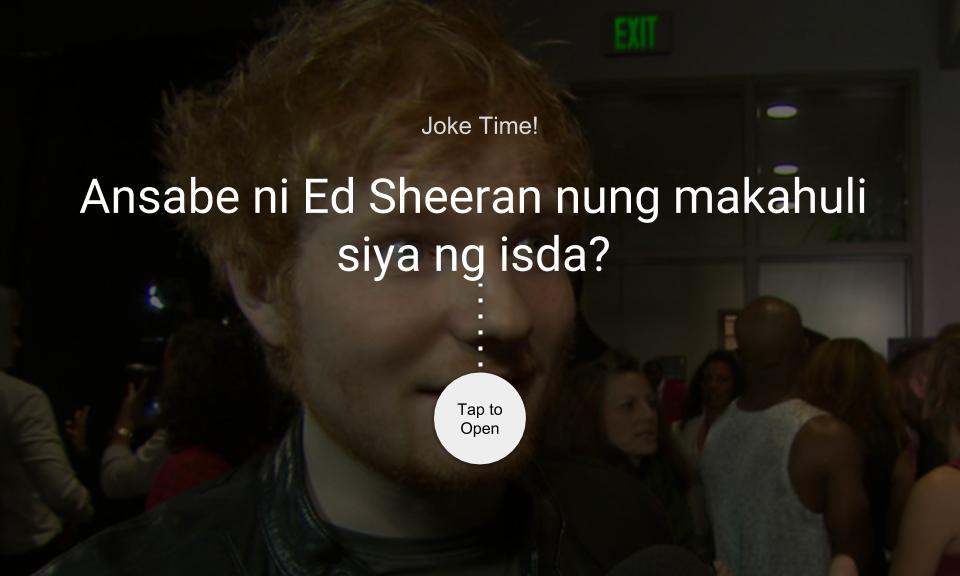 Ansabe ni Ed Sheeran nung makahuli siya ng isda?