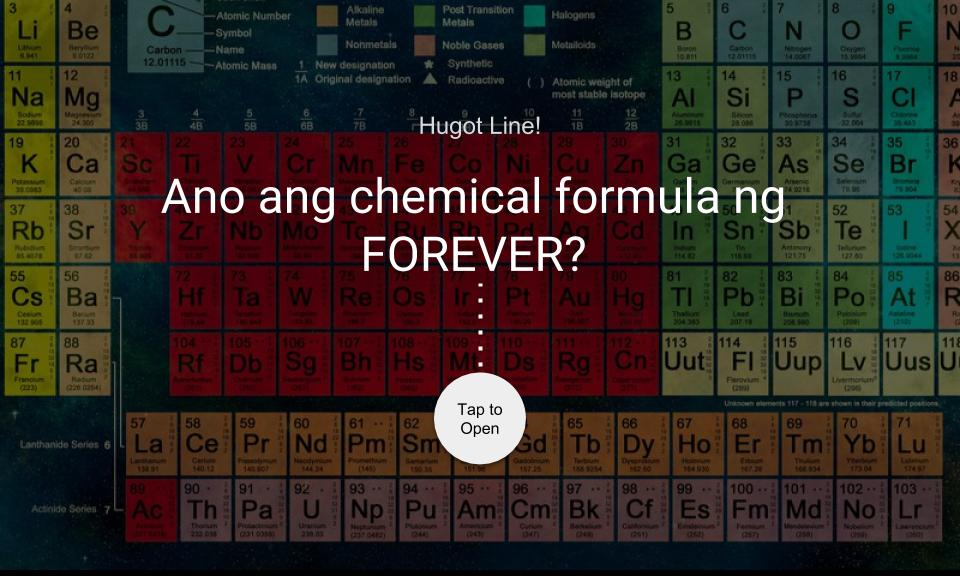 Ano ang chemical formula ng FOREVER?
