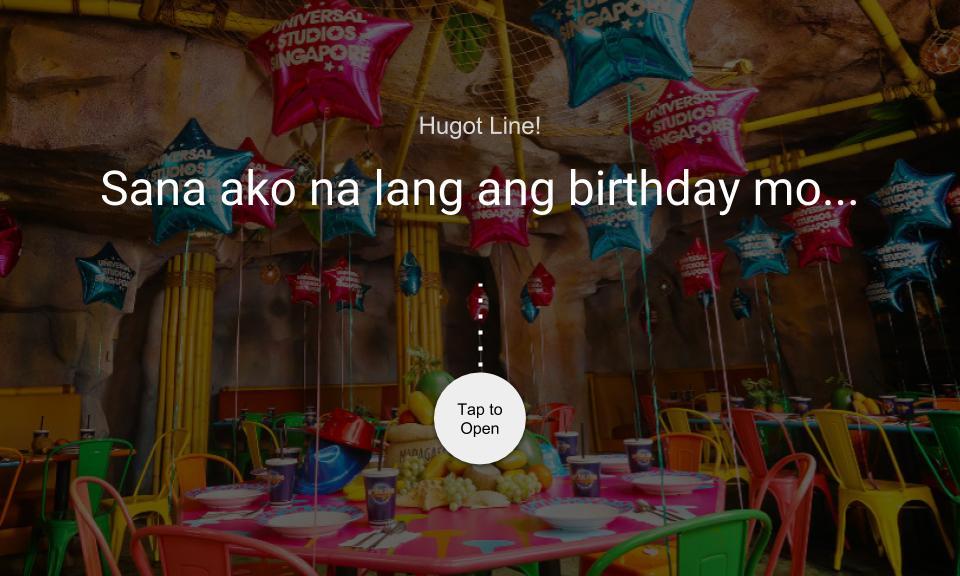 Sana ako na lang ang birthday mo…