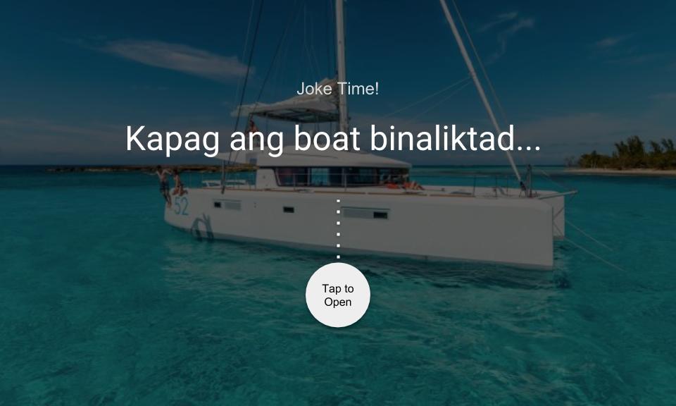 Kapag ang boat binaliktad…