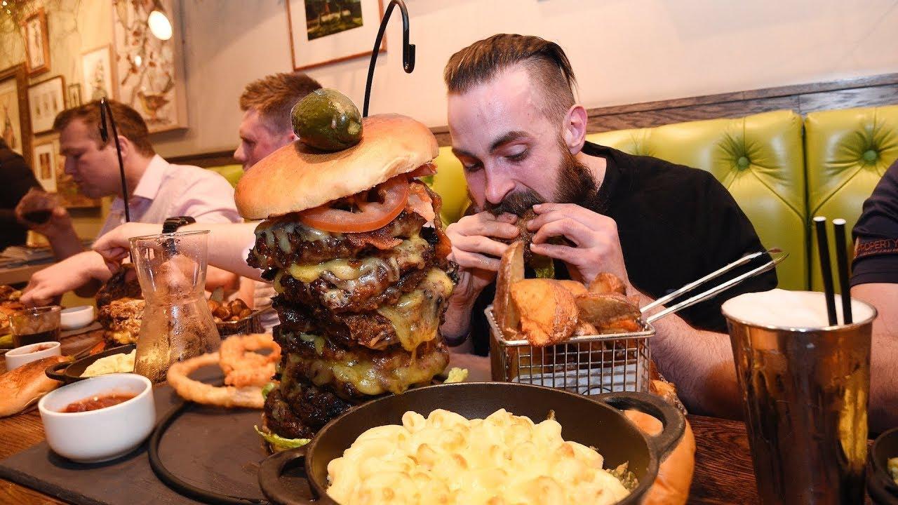 Monster Mac & Cheese Burger Challenge