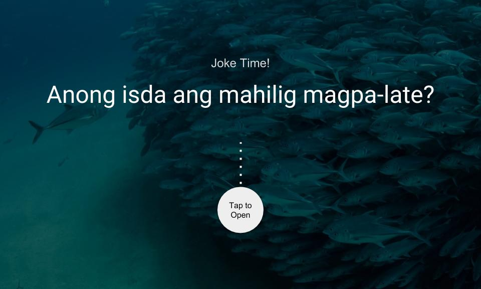 Anong isda ang mahilig magpa-late?