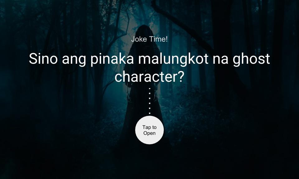 Sino ang pinaka malungkot na ghost character?
