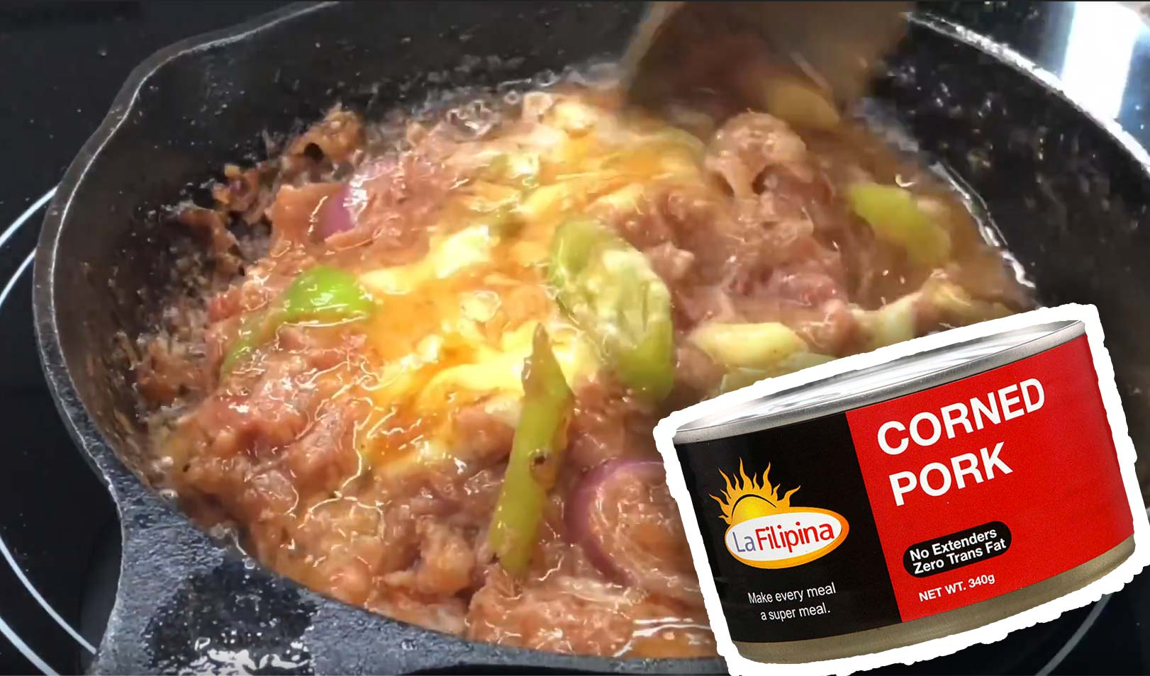 Sizzling Barbecue Corned Pork With Cheese Pulutan Recipe