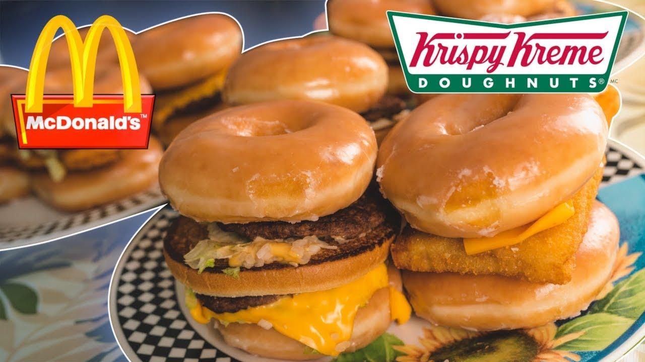McDonald's Krispy Kreme Cheeseburger