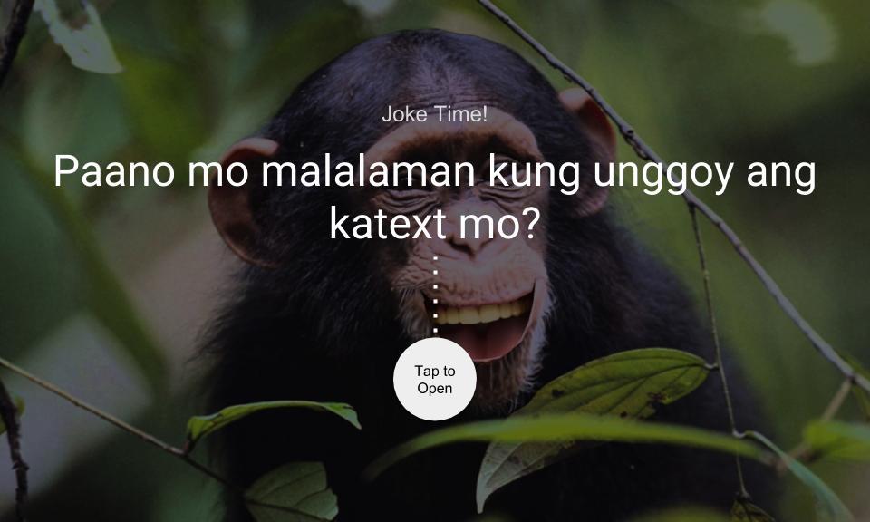 Paano mo malalaman kung unggoy ang katext mo?