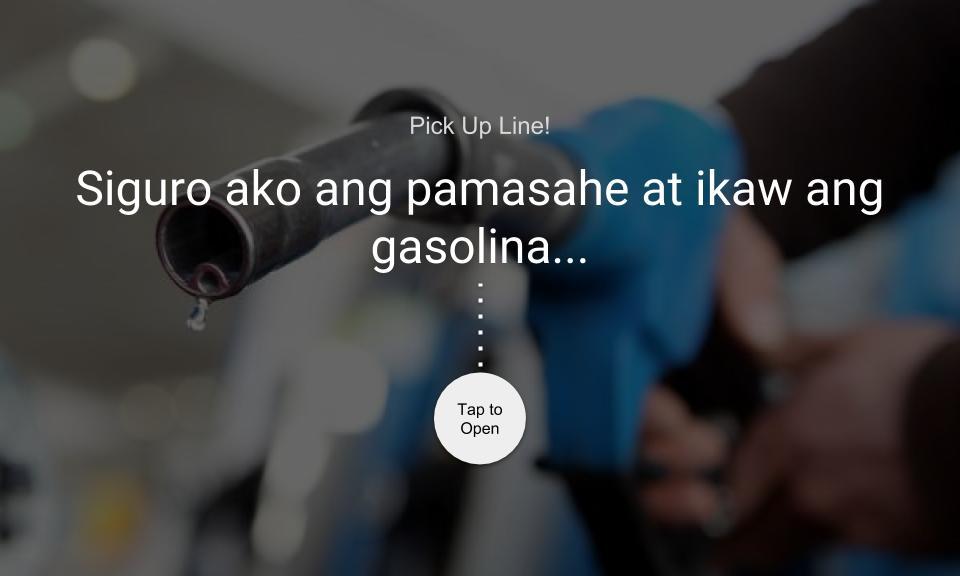 Siguro ako ang pamasahe at ikaw ang gasolina…