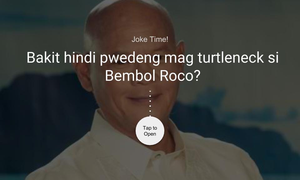 Bakit hindi pwedeng mag turtleneck si Bembol Roco?