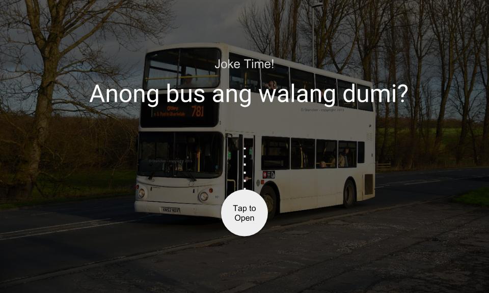 Anong bus ang walang dumi?