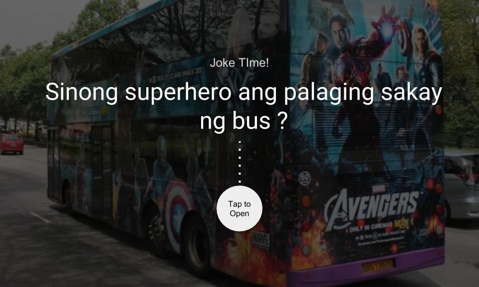 Sinong superhero ang palaging sakay ng bus?