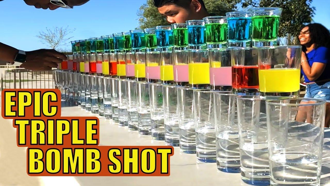 TRIPLE Domino BOMB SHOTS