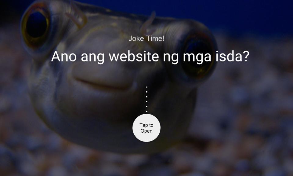 Ano ang website ng mga isda?