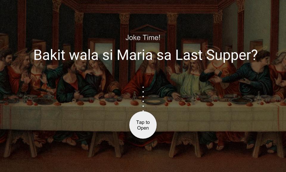 Bakit wala si Maria sa Last Supper?