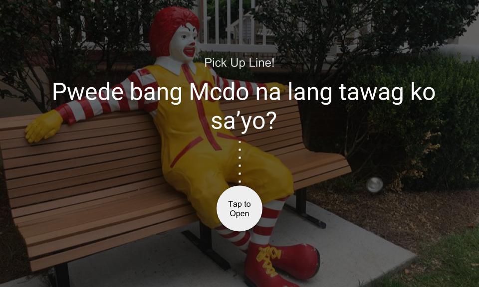 Pwede bang Mcdo na lang tawag ko sa'yo?