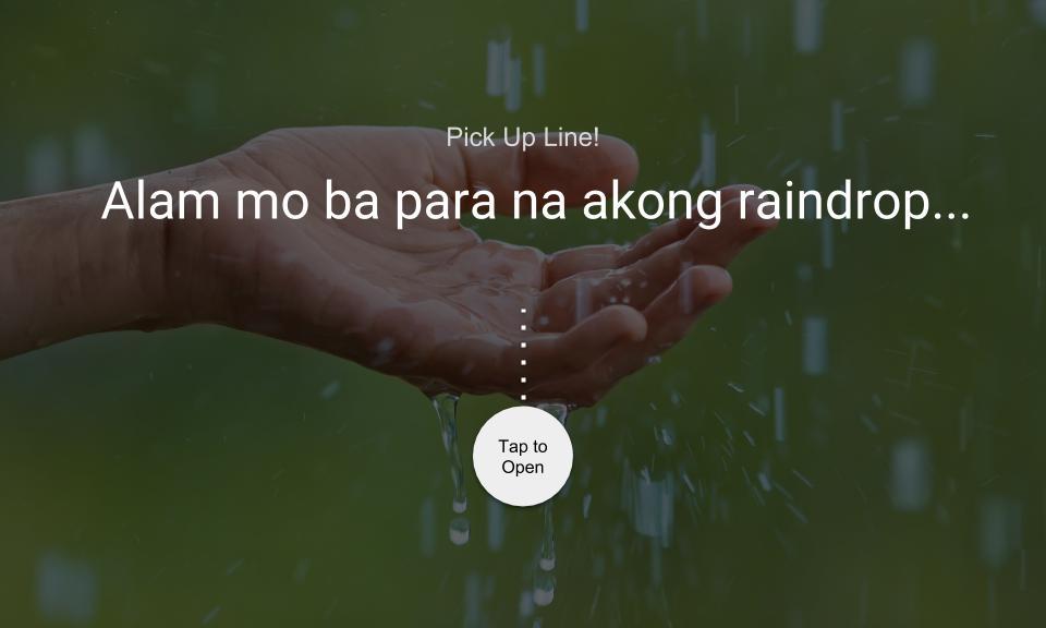 Alam mo ba para na akong raindrop…