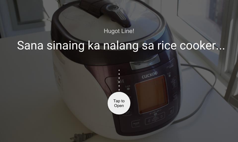 Sana sinaning ka nalang sa rice cooker…