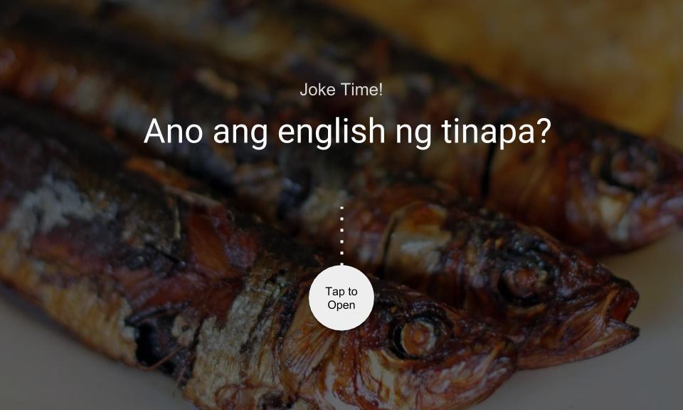 Ano ang english ng tinapa?