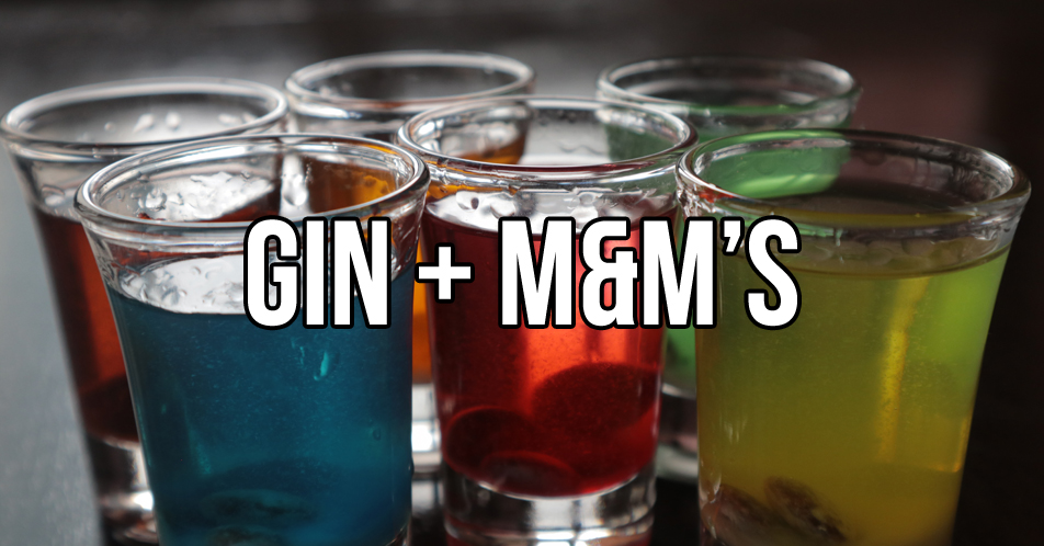 Experimenting Gin + M&M's Chocolate!